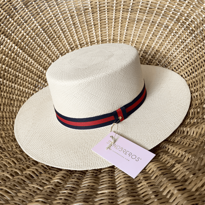 Sombrero sandbreros Cordobes Tomasa cinta roja