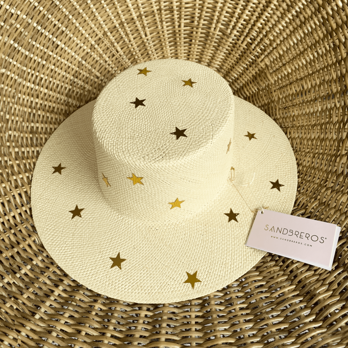 Sombrero Cordobes Constelacion estrellas sandbreros paja natural extrafina