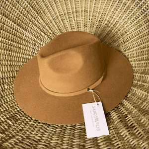 Sombrero Fedora durazno lana extrafina Sombreros Sandbreros