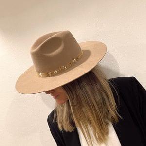 sombrero de lana extrafina color cafe habano