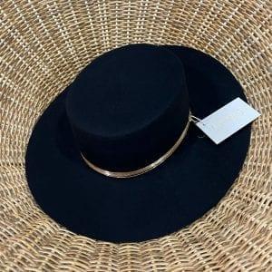 Español Negro Leone de lana natural extrafina Sandbreros sombreros