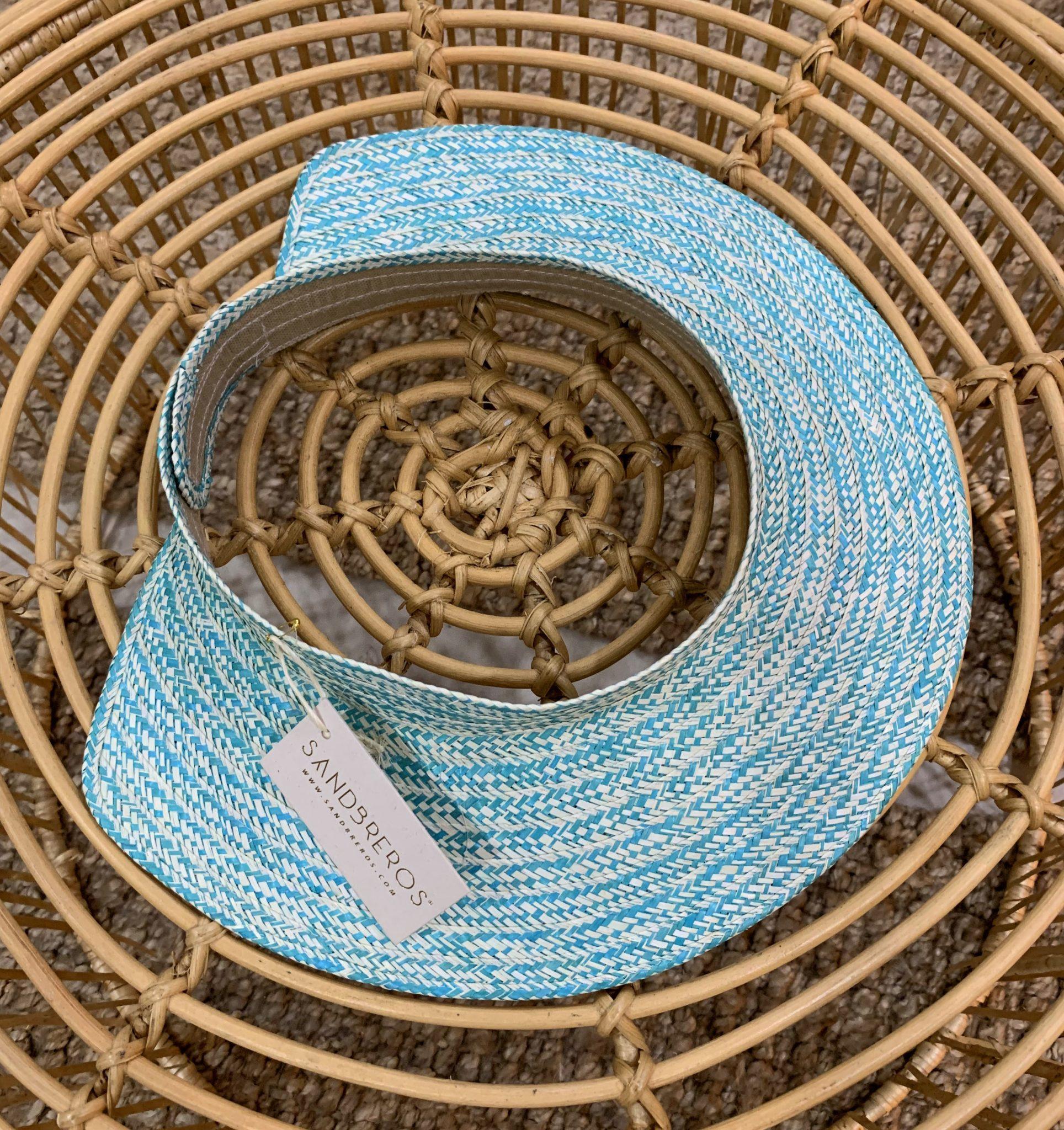 visor blue sandbreros hecho en caña flecha colombiano 100%