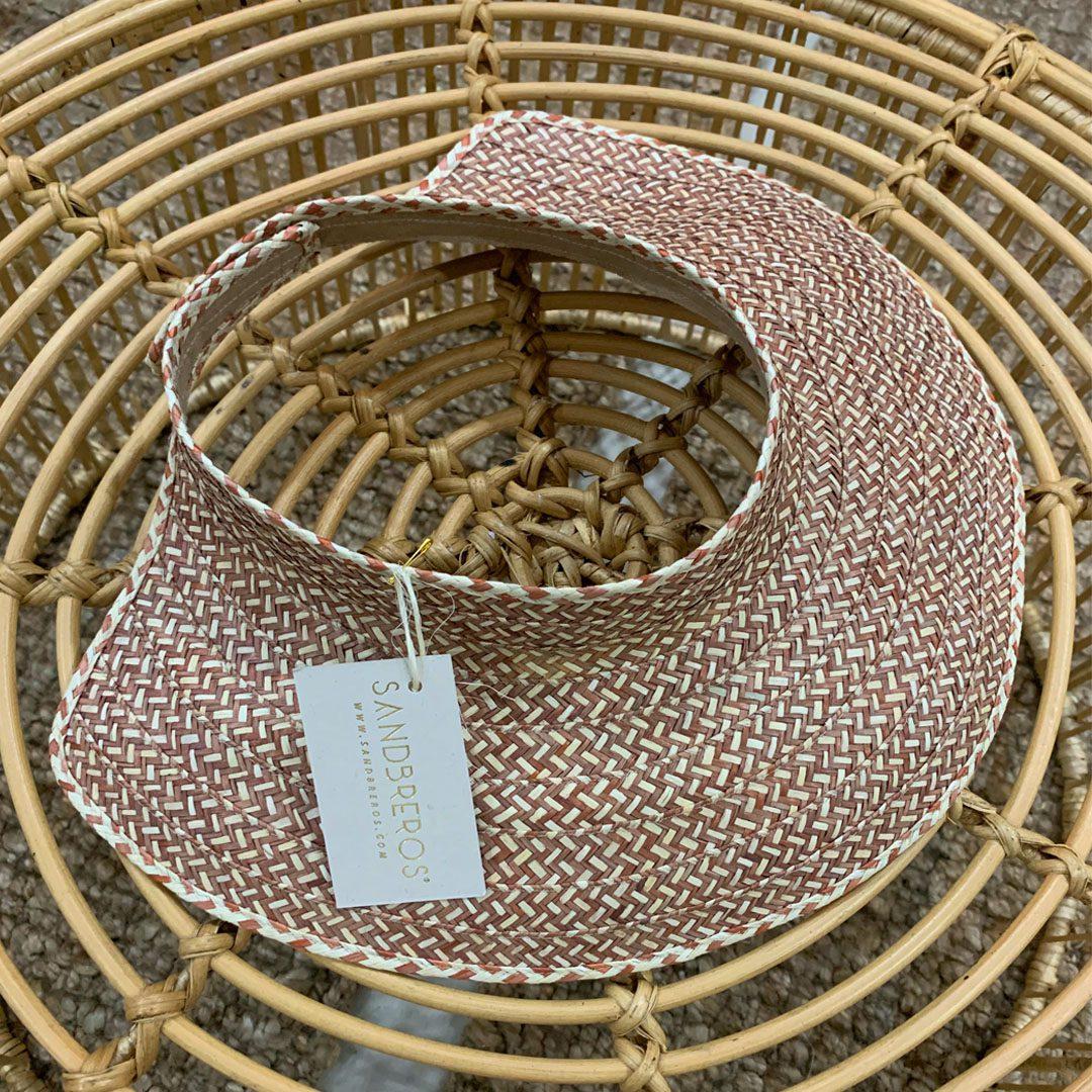 visor cafe sandbreros hecho en caña flecha colombiano 100%