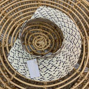 visor pinta blanco y negro sandbreros hecho en caña flecha colombiano 100%
