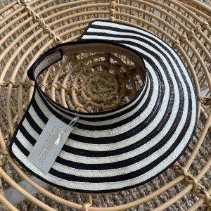 visor tierra blanco y negro lineas sandbreros hecho en caña flecha colombiano 100%